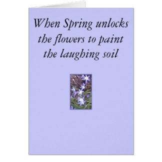 Purple flowers welcome Spring Greeting Card