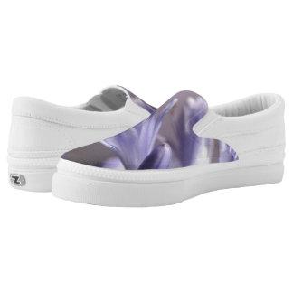Purple Flowers Z slipons Slip-On Shoes