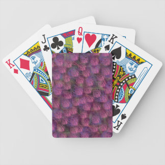 Purple Fluffy Texture Collection Bicycle Playing Cards