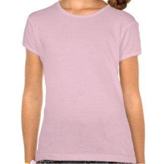 Purple Flying Owl Sketch on Pink Girl's Tshirt