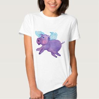 Purple Flying Pig Shirts