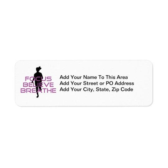 Purple Focus Believe Breathe Return Address Label
