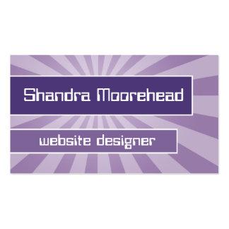 Purple Focus Hi-Tech Web Designer Business Card