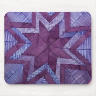 purple folded star Mousepad