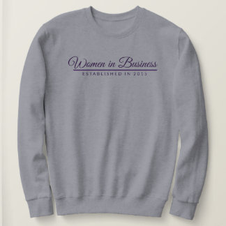 Purple Font and Line Sweatshirt