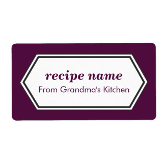 Purple Food Label Shipping Label
