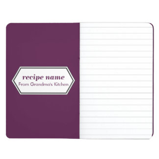 Purple Food Label Journal