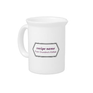 Purple Food Label Pitcher