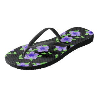 Purple Foot Power Flip Flops