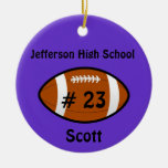 Purple Football Ornament