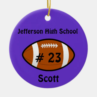 Purple Football Ornament