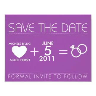 Purple for Michele 11 Cm X 14 Cm Invitation Card
