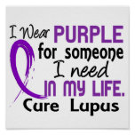 Purple For Someone I Need Lupus Poster