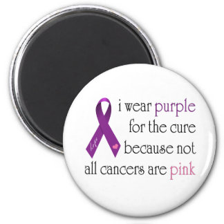 Purple for the Cure 6 Cm Round Magnet