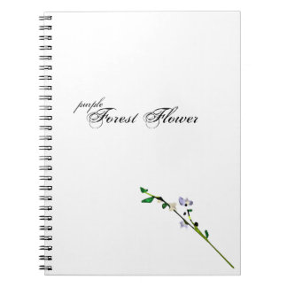 purple Forest Flower notebook & design