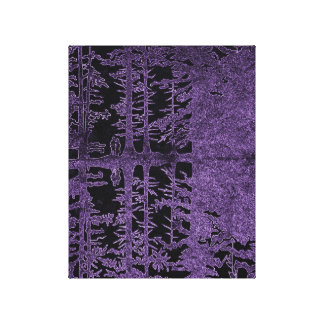 purple forest lampshade, black forest with couple canvas print