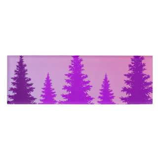 Purple Forest Name Tag