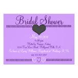 Purple Formal Bridal Shower Invitation