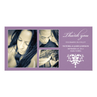 PURPLE FORMAL COLLAGE | WEDDING THANK YOU CARD