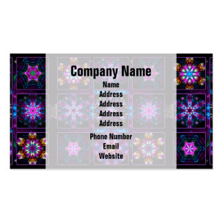 Purple Fractal Collage Double-Sided Standard Business Cards (Pack Of 100)
