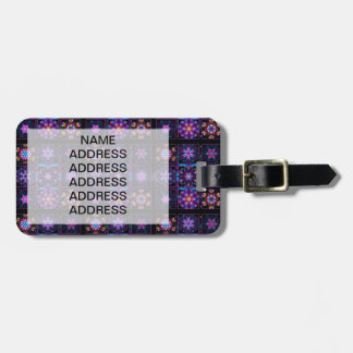 Purple Fractal Collage Luggage Tag
