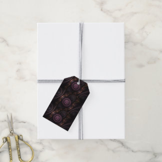 purple fractal gift tags