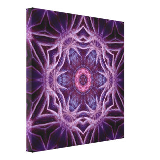 Purple Fractal Hexagon Star  Canvas Stretched Canvas Prints
