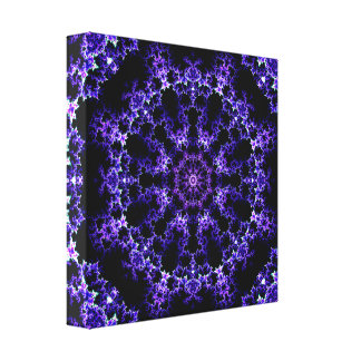 Purple Fractal Mandala Canvas Print