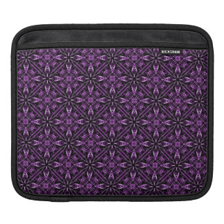 Purple Fractal Pattern iPad Sleeve
