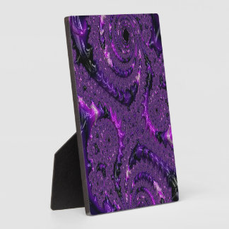 Purple Fractal Plaque