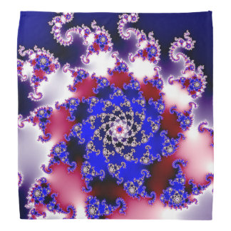 Purple Fractal Star Kerchiefs