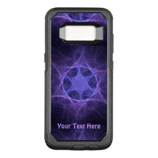 Purple Fractal Star Of David OtterBox Commuter Samsung Galaxy S8 Case