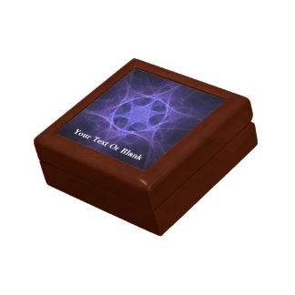 Purple Fractal Star Of David Small Square Gift Box