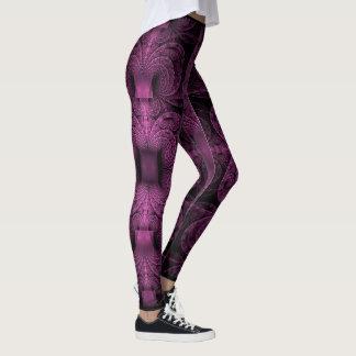 Purple Fractals Leggings