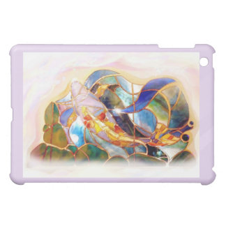 Purple Frame Art Glass Koi Classy iPad Case