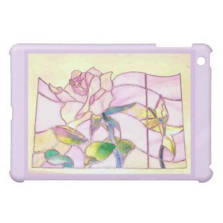 Purple Frame Sparkling Rose Lovely iPad Case