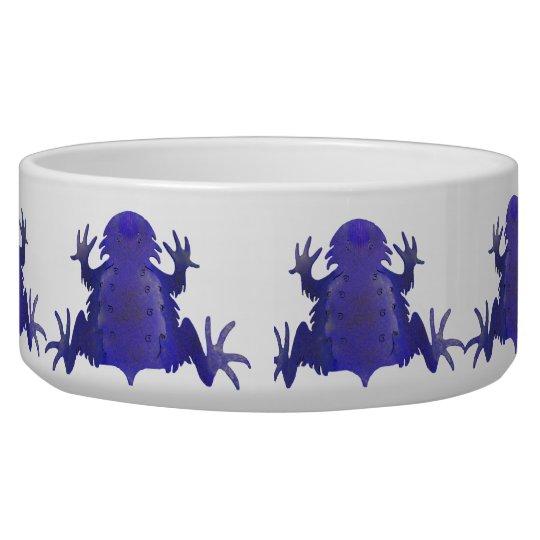 Purple Frog Pet Food Dog Bowl