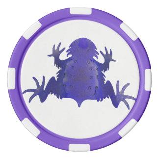 Purple Frog Poker Chips