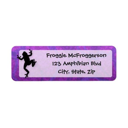 Purple Frog Return Address Label