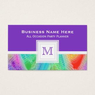 Purple: Frozen Rainbow Monogram Business Card