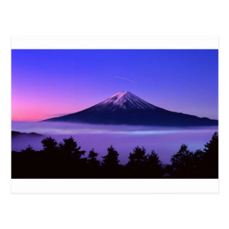 purple fuji postcard