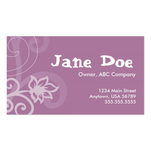 Purple full size pack of standard business cards