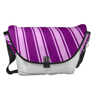 Purple Funky Sun Rays Background Messenger Bag