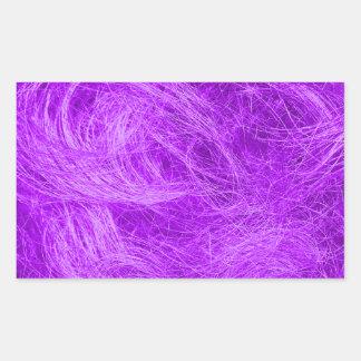 Purple Fur Rectangle Sticker