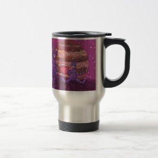 Purple Furry Cyclops over Jupiter 15 Oz Stainless Steel Travel Mug