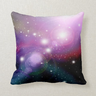 Purple Galaxy 3 Throw Pillow