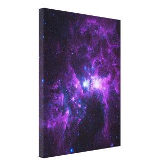 Purple Galaxy Stretched Canvas Prints