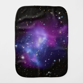 Purple Galaxy Cluster Burp Cloth