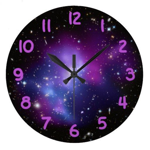 Purple Galaxy Cluster Clocks