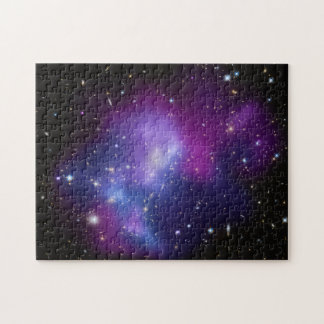 Purple Galaxy Cluster Jigsaw Puzzle